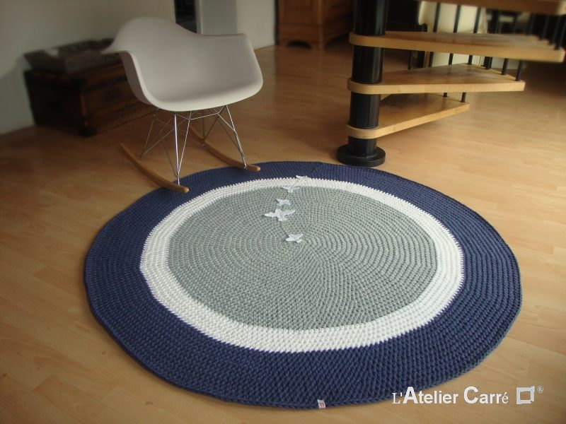 tapis rond personnalisable