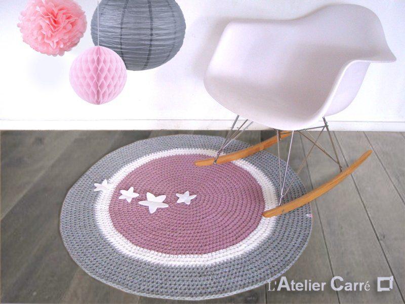 tapis rond en laine personnalisable sujets