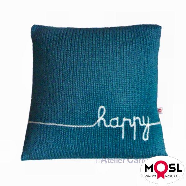 coussin en tricot personnalisable