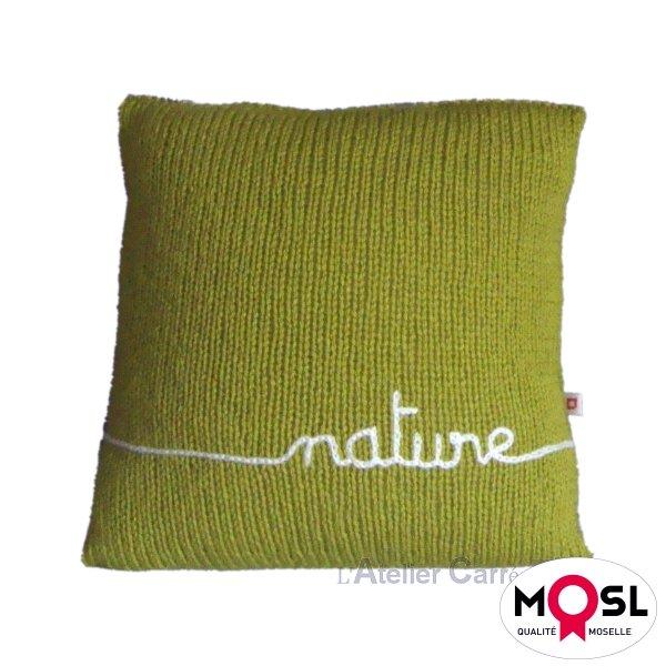 Coussin en tricot personnalisable prénom ou texte