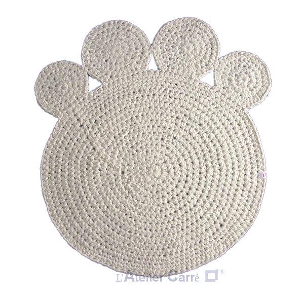 Tapis ou couverture pour chien ou chat crocheté en laine