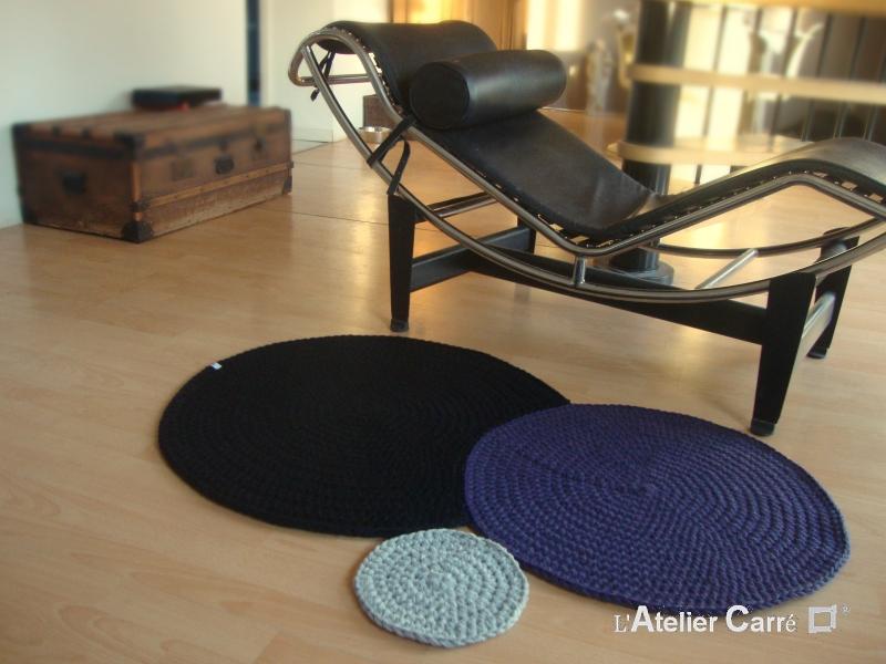 tapis ronds encastres en laine