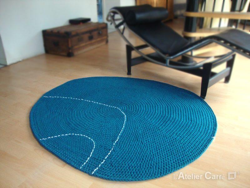 tapis forme galet