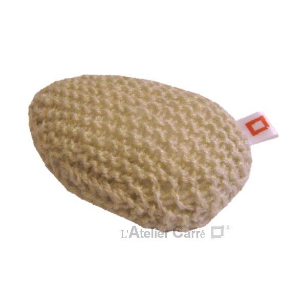 repose poignet ergonomique en laine et mousse beige