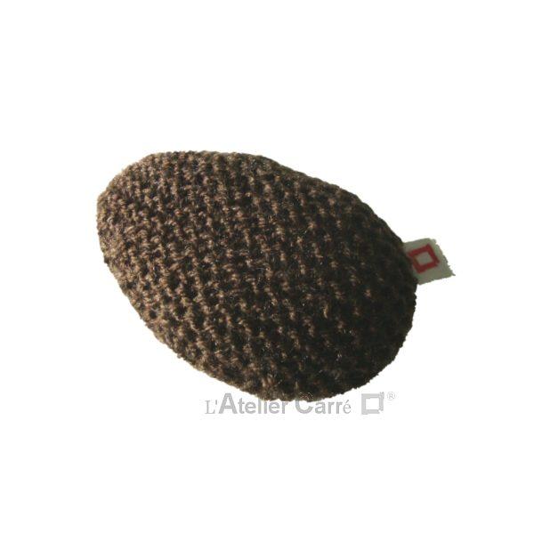 repose poignet ergonomique en laine et mousse chocolat