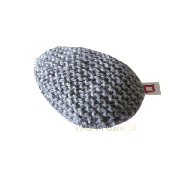 repose poignet ergonomique en laine et mousse gris clair