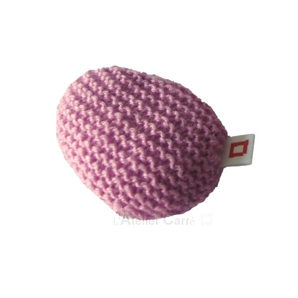 repose poignet ergonomique en laine et mousse rose clair