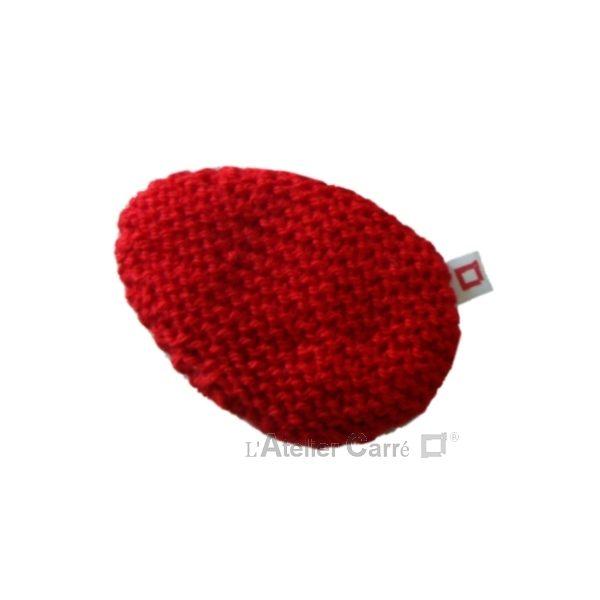 repose poignet ergonomique en laine et mousse rouge