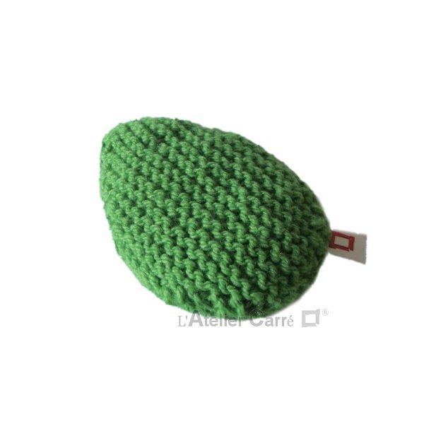 repose poignet ergonomique en laine et mousse vert