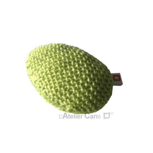 repose poignet ergonomique en laine et mousse vert anis