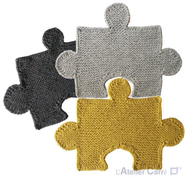Set de table forme Puzzle en tricot combinable