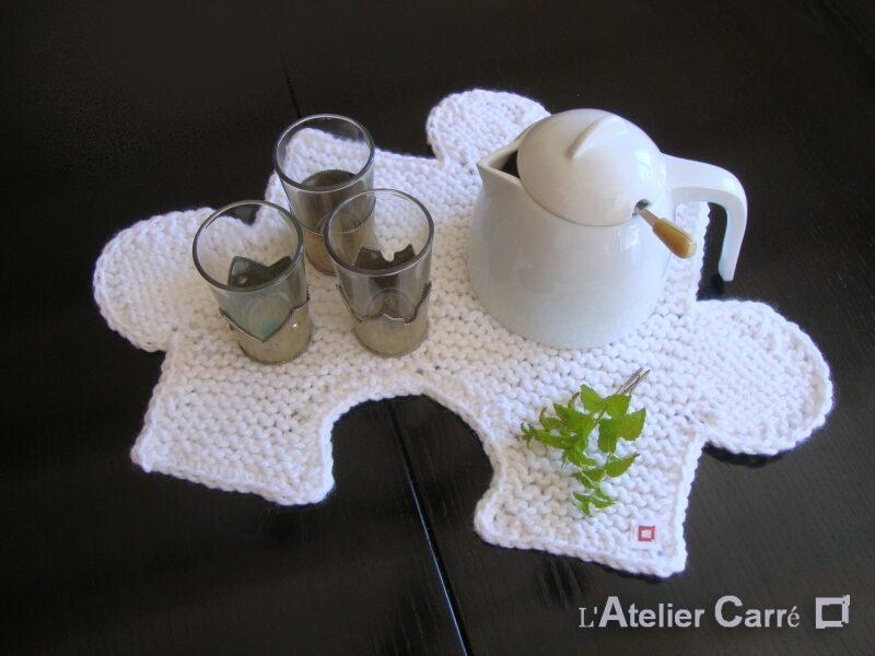 set de table puzzle en laine