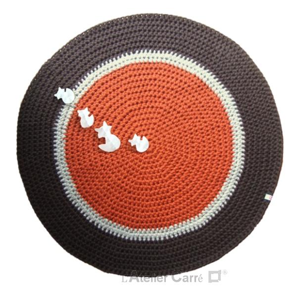 tapis rond personnalisable au crochet décoration chambre