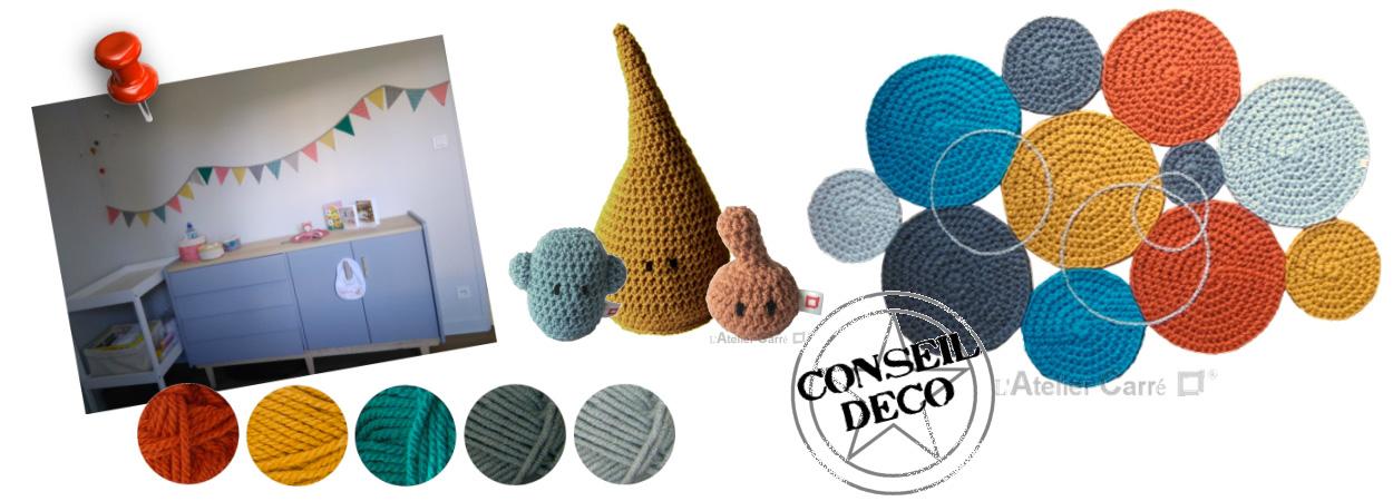 tapis au crochet design