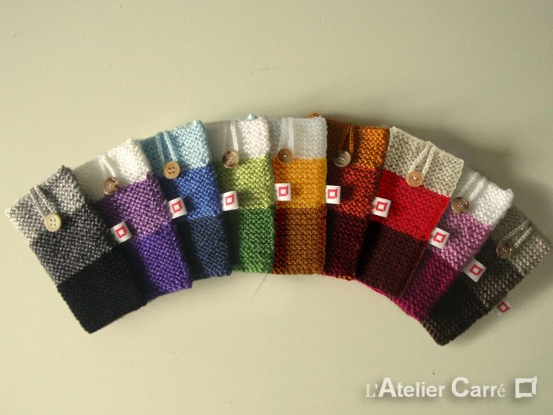 Housse smartphone laine tricolore