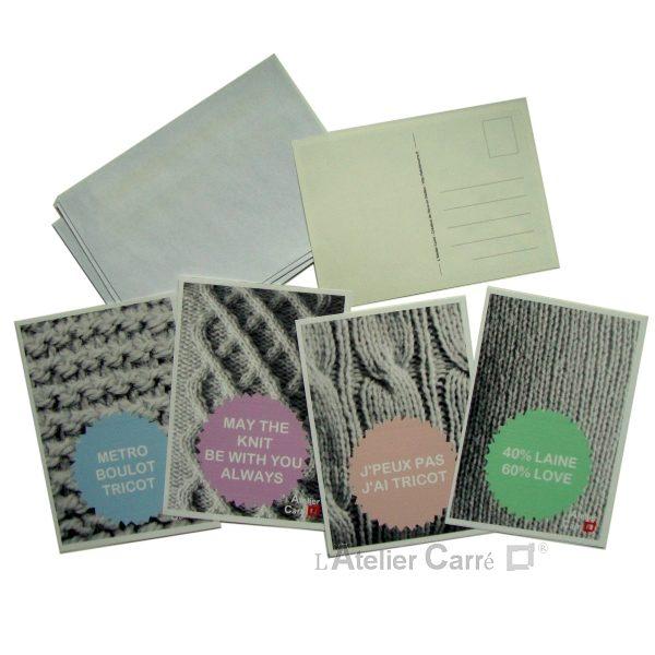 Cartes postales thème tricot à télécharger