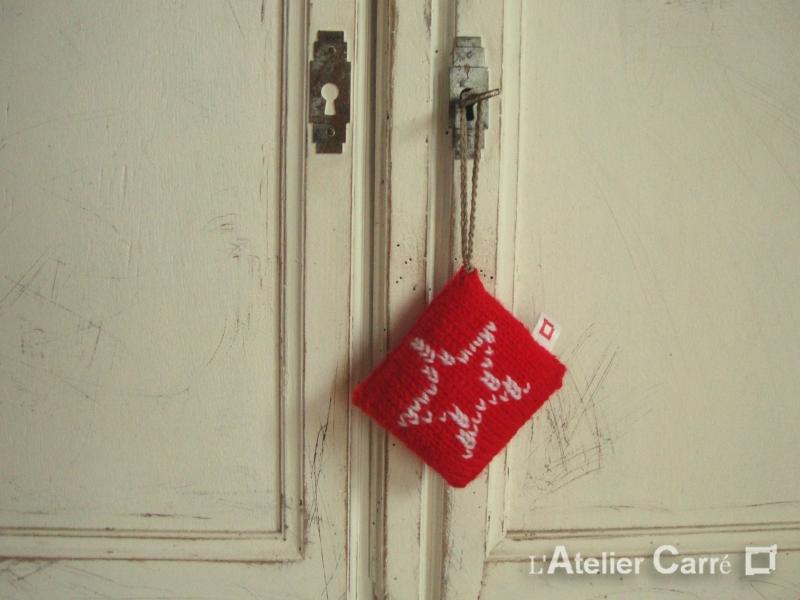 décoration de porte motifs hiver