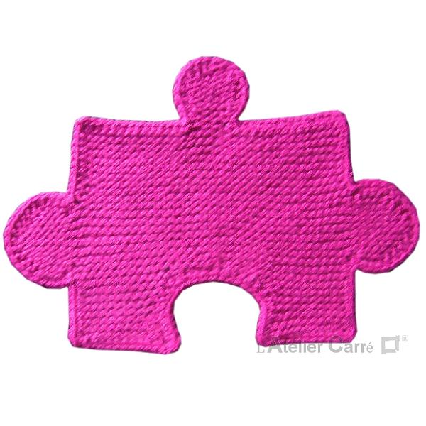 set de table dessous de plat en tricot rose