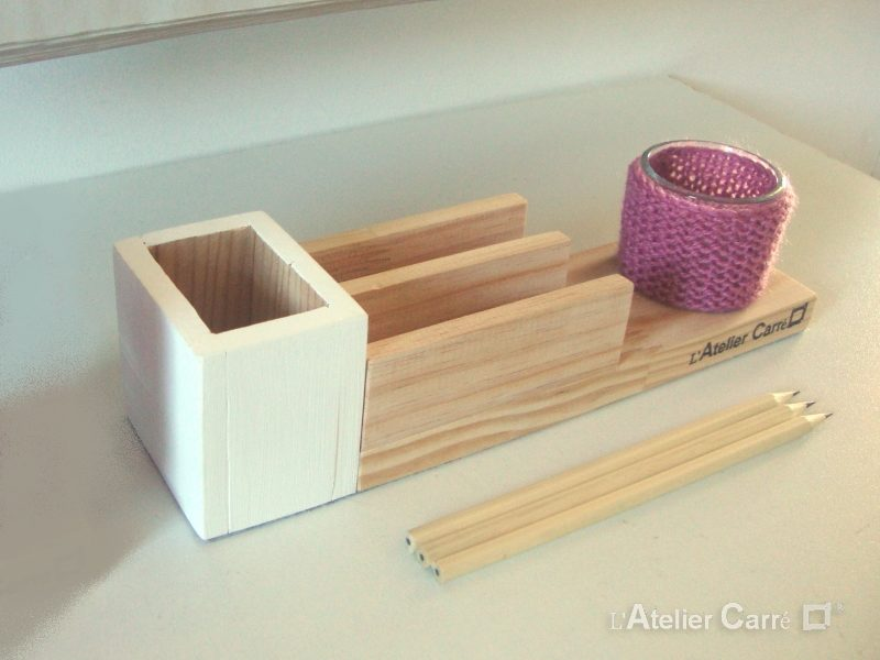 organiseur-bureau-bois-crochet-rose-ancien