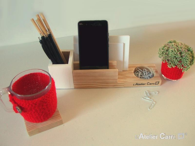 organiseur-bureau-bois-crochet-rouge1